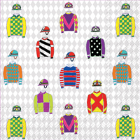 Jockey Silks Cocktail Napkin
