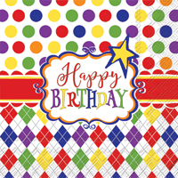 Birthday Party Fun Cocktail Napkin