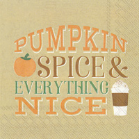 Pumpkin Spice Cocktail Napkin