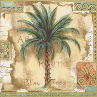 Palm Trees Brown Cocktail Napkin