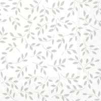 Folia White/Silver Cocktail Napkin