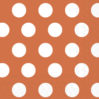 Big Dots Orange/White Cocktail Napkin