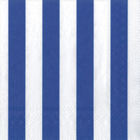 Big Stripes Dark Blue Cocktail Napkin