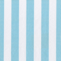 Big Stripes Soft Blue Cocktail Napkin