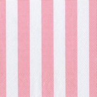 Big Stripes Soft Pink Cocktail Napkin