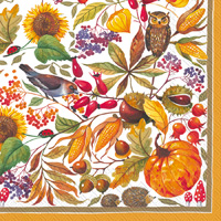 Autunno Bellino Ochre Cocktail Napkin