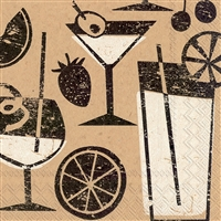 Brown Paper Cocktails Cocktail Napkin