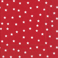 Little Stars Red Cocktail Napkin