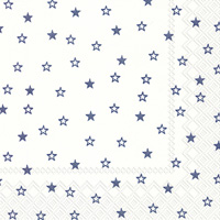 Little Stars White Blue Cocktail Napkin