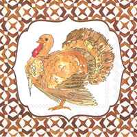 Rosanne Beck RB Turkey Cocktail Napkin