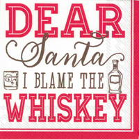 Blame the Whiskey Cocktail Napkin