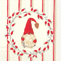 Little Nisse Red Cocktail Napkin