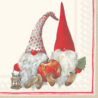 Friendly Tomte Red Cocktail Napkin