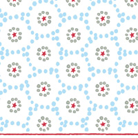 Winter Dotty Light Blue Cocktail Napkin