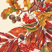 Fall Colors Cream Cocktail Napkin