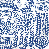 Marimekko Nasia White Blue Cocktail Napkin