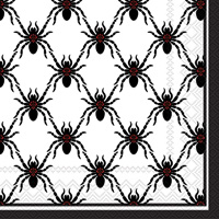 Rosanne Beck Black Spiders Cocktail Napkin