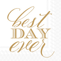 Rosanne Beck Best Day Ever Cocktail Napkin