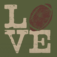 Football Love Cocktail Napkin