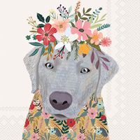Mia Charro Floral Dog Cocktail Napkin