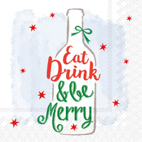 Be Merry Wine Cocktail Napkin