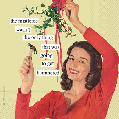 Anne Taintor Mistletoe Cocktail Napkin