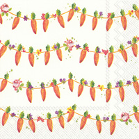 Carrots Garland Cocktail Napkin