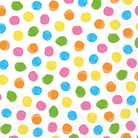 Colourful Dots Yellow/Orange Cocktail Napkin