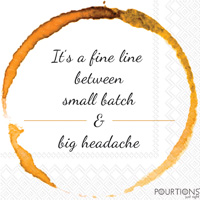 Pourtions Big Headache Cocktail Napkin