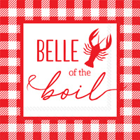 Eat Drink Host Belle of the Boil Cocktail Napkin