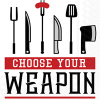 Eat Drink Host Choose Your Weapon Cocktail Napkin