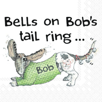 Bells on Bob's Tail Cocktail Napkin