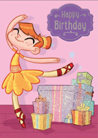 Cardooo Birthday Activity Card Ballet