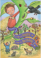 Cardooo Birthday Fairy Story Card Jack & the Beanstock