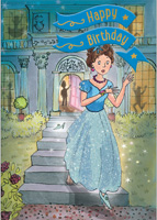Cardooo Birthday Fairy Story Card Cinderella