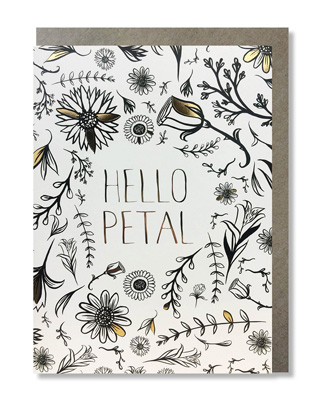 Cardooo Coloring Card Hello Petal