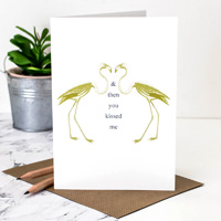 Coulson Macleod Flamingoes Greeting Card