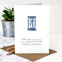 Coulson Macleod Midlife Crisis Blue Greeting Card