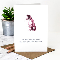 Coulson Macleod Dog Red Greeting Card