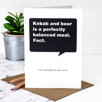 Coulson Macleod Kebab & Beer Greeting Card
