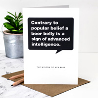 Coulson Macleod Beer Belly Greeting Card