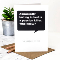 Coulson Macleod Farting Greeting Card