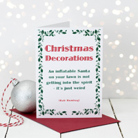 Coulson Macleod Christmas Decorations Greeting Card