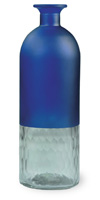 Malaga Frosted Bottle Tall Dark Blue