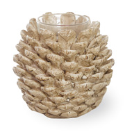 Pinecone Poetry Tealight Holder Natural