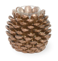 Pinecone Poetry Tealight Holder Bronze