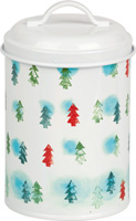 Winter Trees Light Blue Cookie Tin