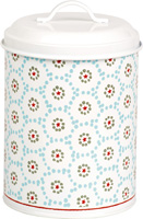 Winter Dotty Light Blue Cookie Tin