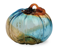 Gallery Glass Pumpkins Large Glass Pumpkin Blue
