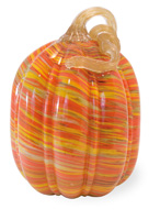 Swirls Glass Pumpkin - Tall